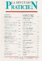 La revue du praticien, No 20, 15 Septembre 1991