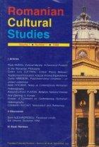 Romanian Cultural Studies Volume Number