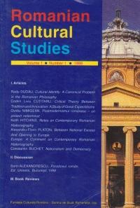 Romanian Cultural Studies, Volume 1, Number 1, 1999