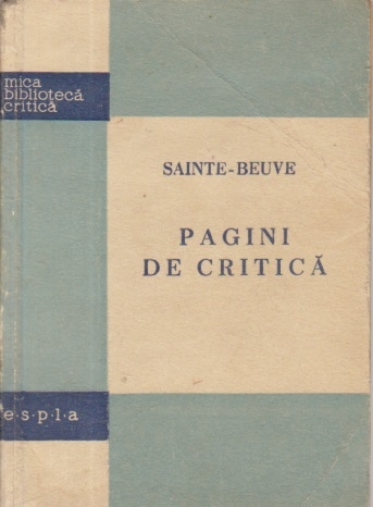 Sainte-Beuve - Pagini de critica