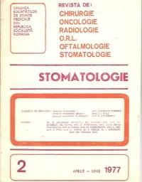 Stomatologia - Revista a societatii de stomatologie (1977/aprilie-iunie)