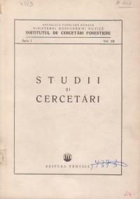 Studii si cercetari (Seria I, Vol. XII)