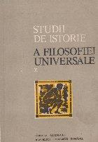 Studii istorie filosofiei universale