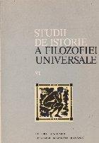 Studii de istorie a filozofiei universale, VI