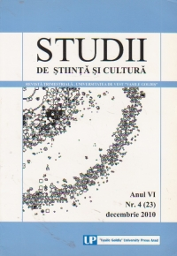 Studii de stiinta si cultura. Anul VI Nr. 4 (23) Decembrie 2010