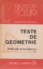 Teste geometrie Probleme matematica Volumul