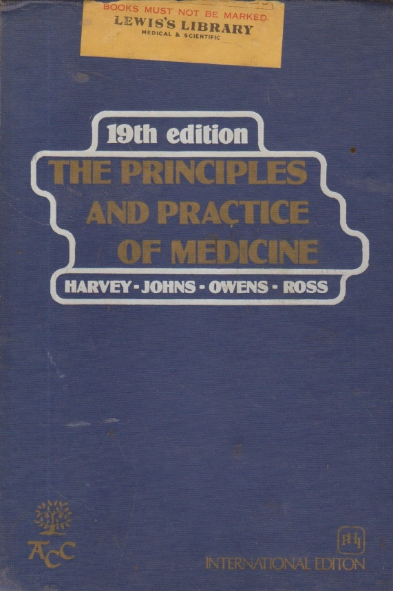 The principles and practice of medicine, 19th edition