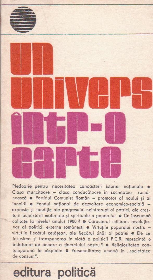 Un univers intr-o carte, Volumul al VI-lea