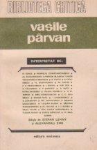 Vasile Parvan interpretat de...