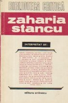 Zaharia Stancu - Interpretat de: